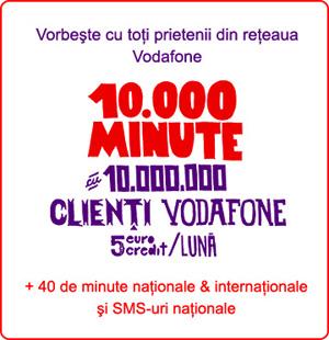 10000 de minute la Vodafone