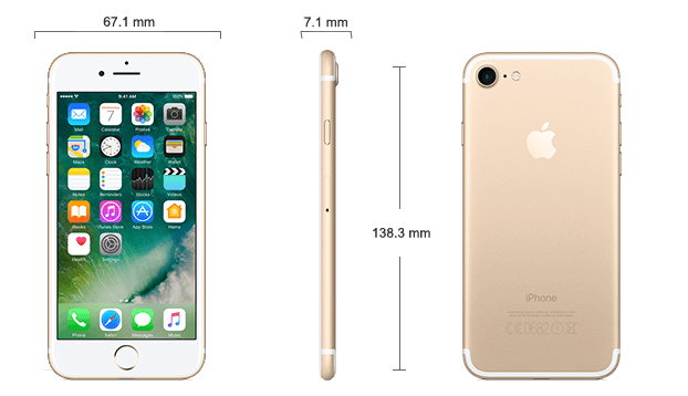 Dimensiuni iPhone 7