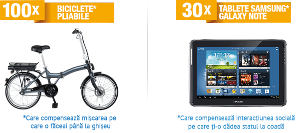 100 biciclete pliabile + 30 tablete Samsung galaxy note