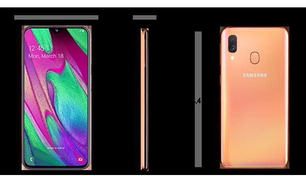 Dimensiuni  Samsung Galaxy A40