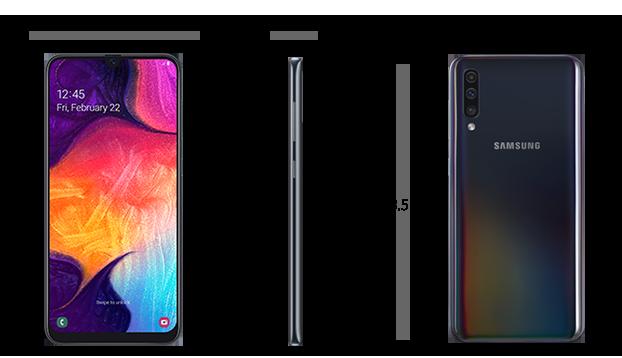Dimensiuni  Samsung Galaxy A50