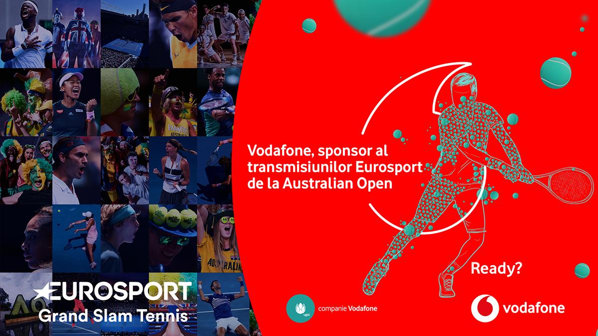 Vodafone - sponsor transmisiuni turnee de tenis din 2020 difuzate de Eurosport